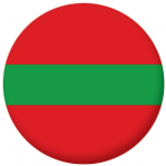 Transnistria Flag 58mm Button Badge